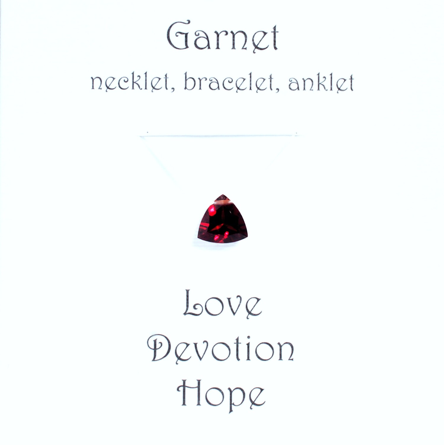 Garnet - Invisible Necklet, Bracelet, Anklet -Trillion Facet