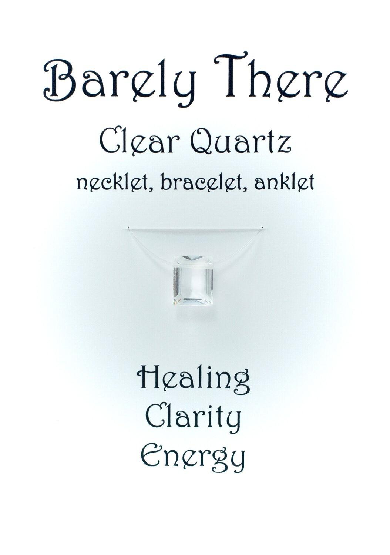 Clear Quartz - Invisible Necklet, Bracelet, Anklet -Emerald Facet