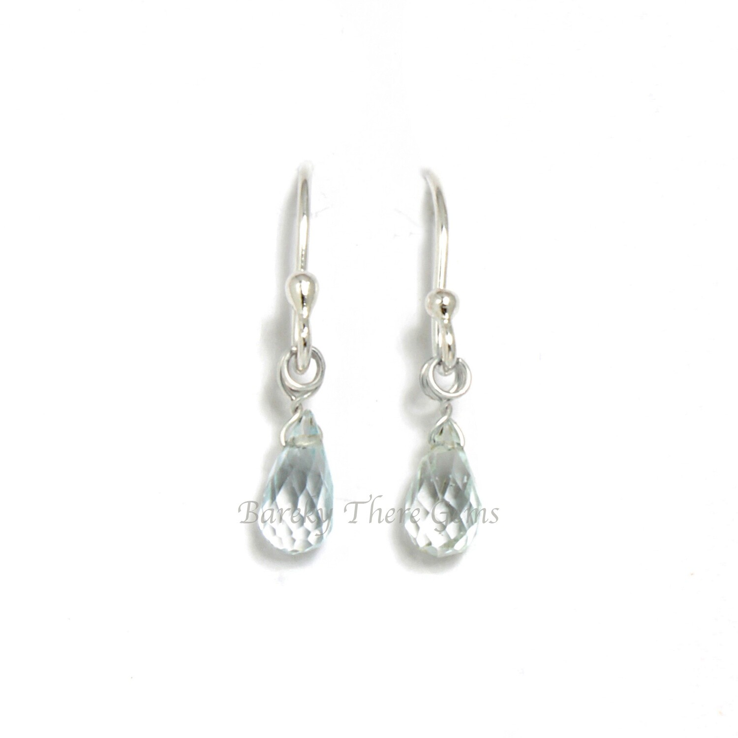 Aquamarine, Sterling Silver, Drop Earrings