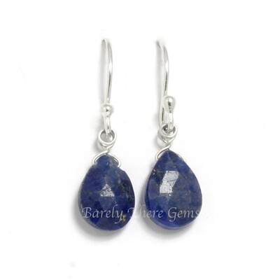 Lapis Lazuli, Sterling Silver, Drop Earrings