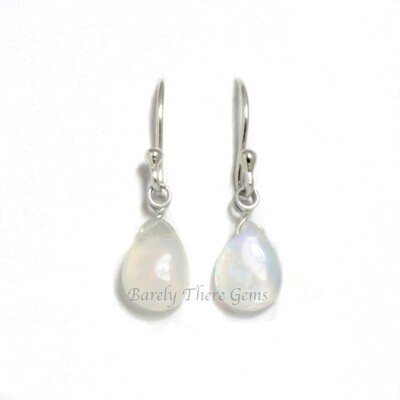 Moonstone, Sterling Silver, Drop Earrings