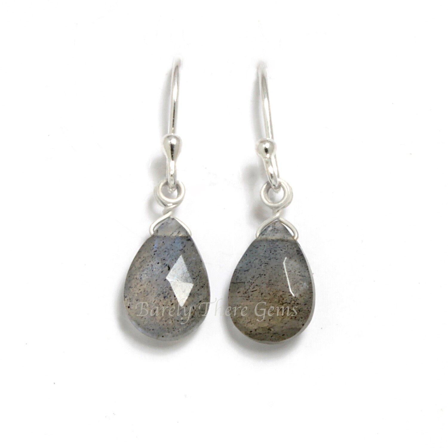 Labradorite, Sterling Silver, Drop Earrings