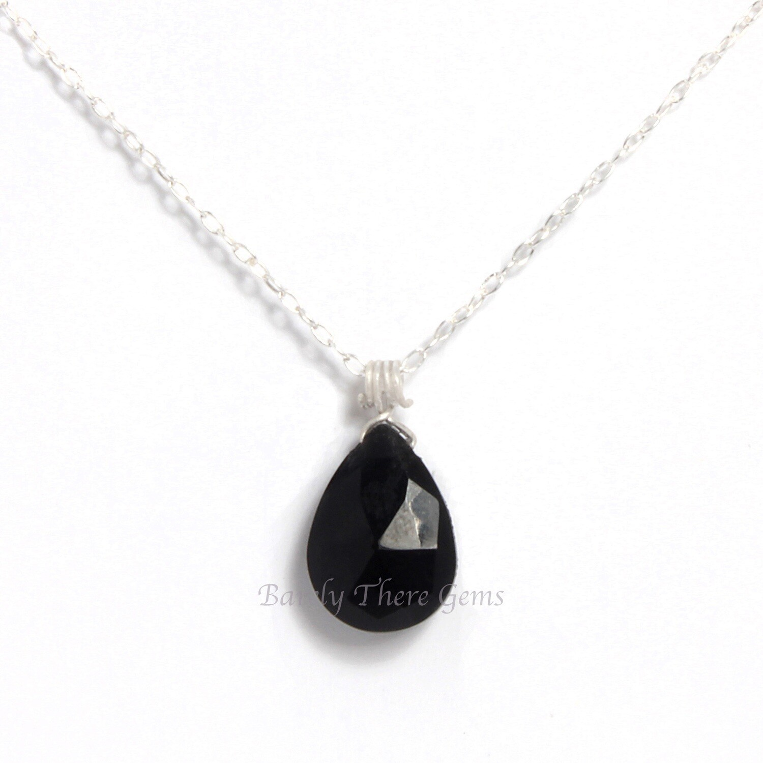 Black Onyx, Sterling Silver, Necklace