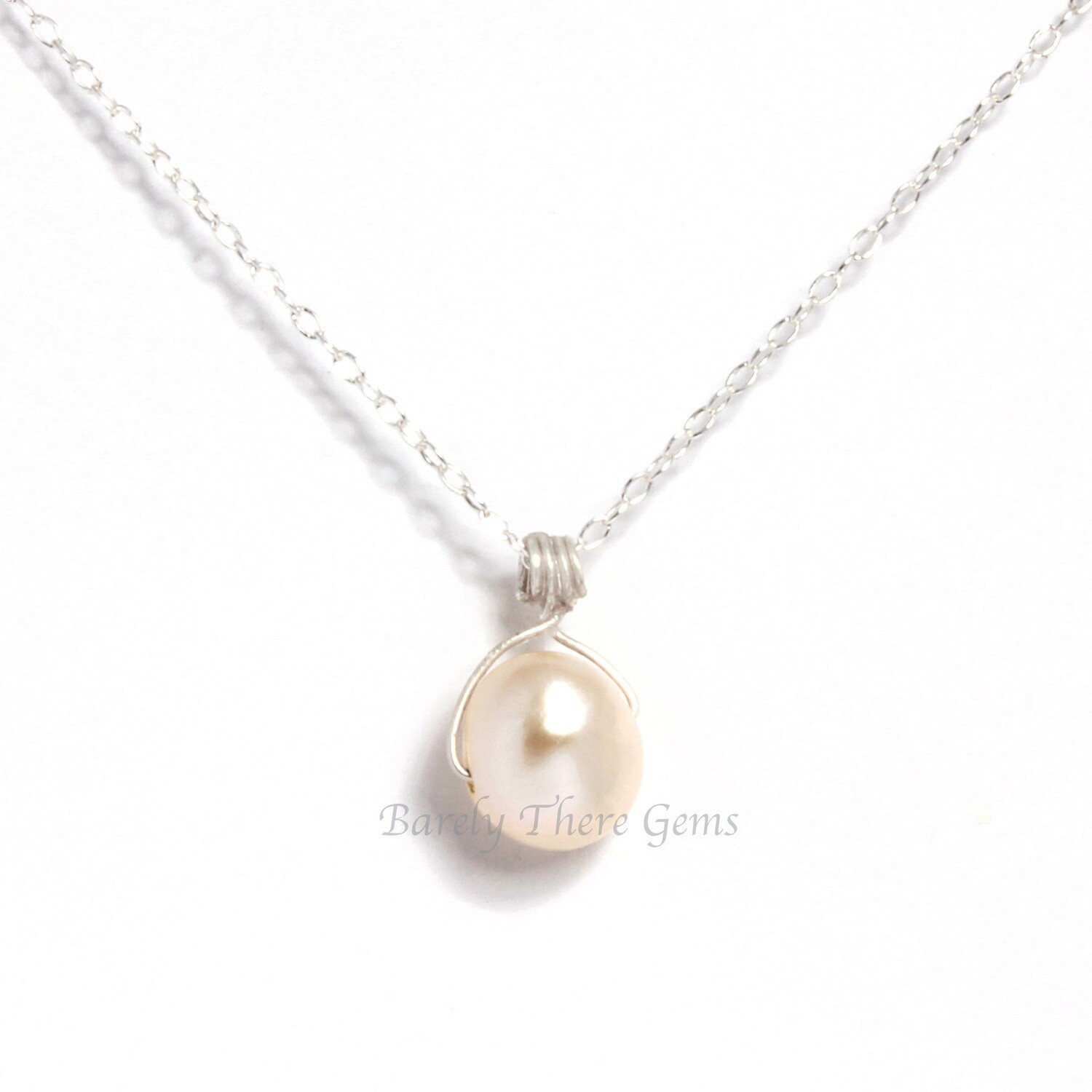 Pearl, Sterling Silver, Necklace