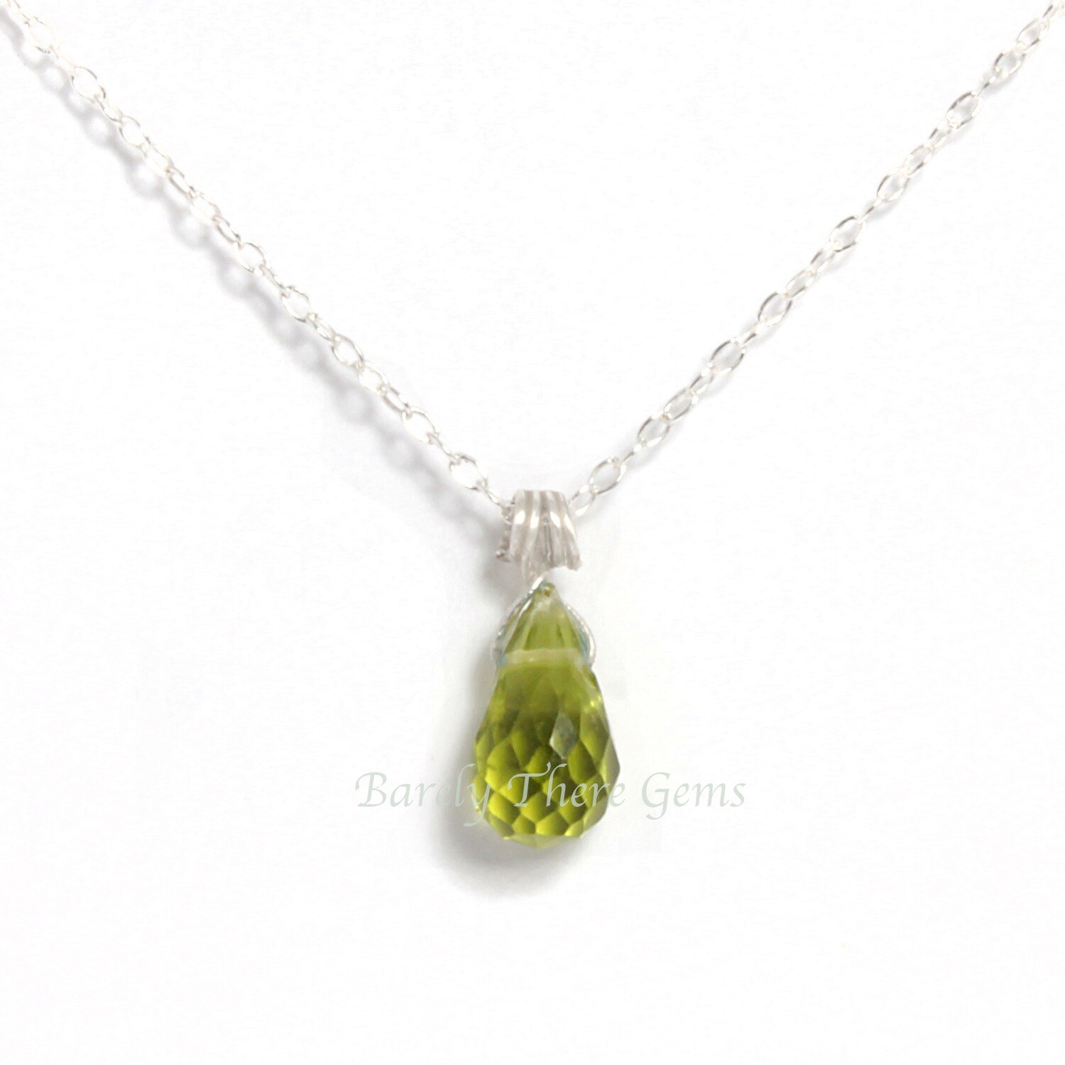 Peridot, Sterling Silver, Necklace
