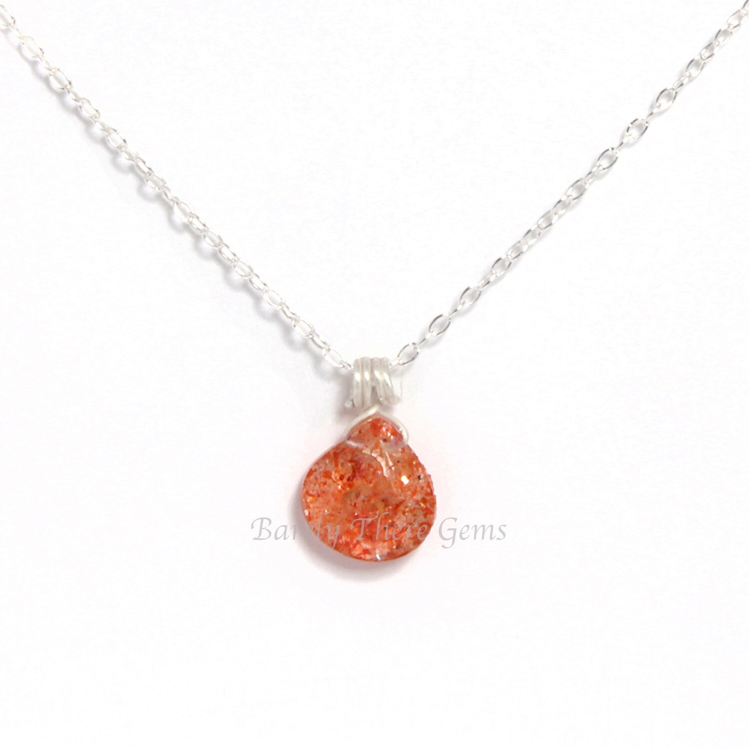 Sunstone, Sterling Silver, Necklace