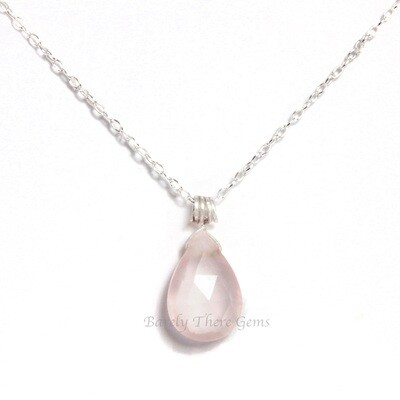 Rose Quartz, Sterling Silver, Necklace