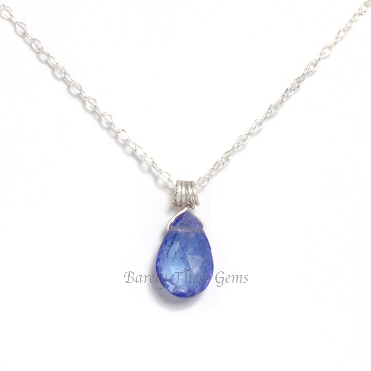 Tanzanite, Sterling Silver, Necklace