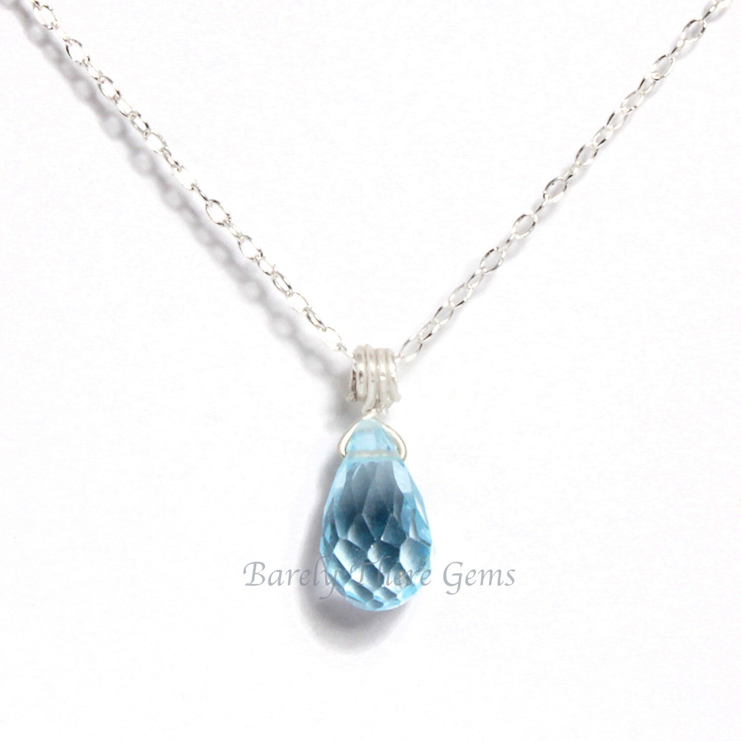 Blue Topaz, Sterling Silver, Necklace