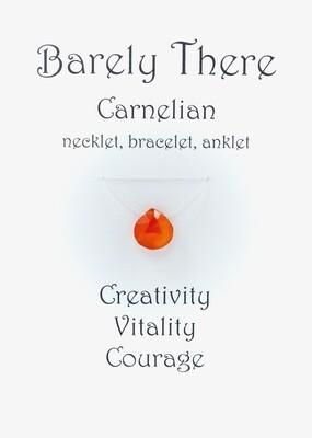 Carnelian - Invisible Necklet, Bracelet, Anklet