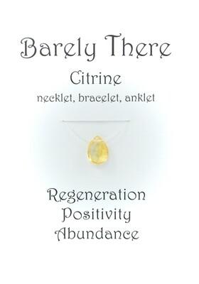 Citrine - Invisible Necklet, Bracelet, Anklet