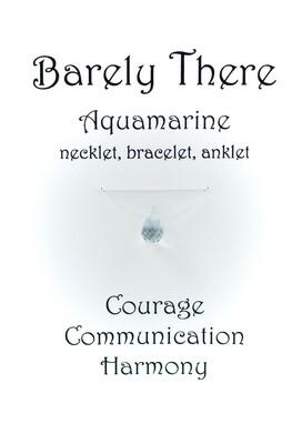 Aquamarine - Invisible Necklet, Bracelet, Anklet