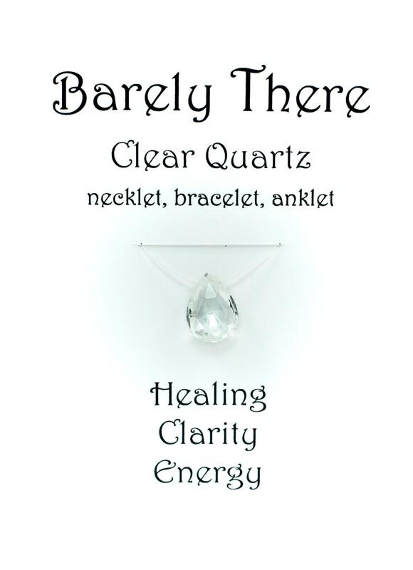 Clear Quartz - Invisible Necklet, Bracelet, Anklet