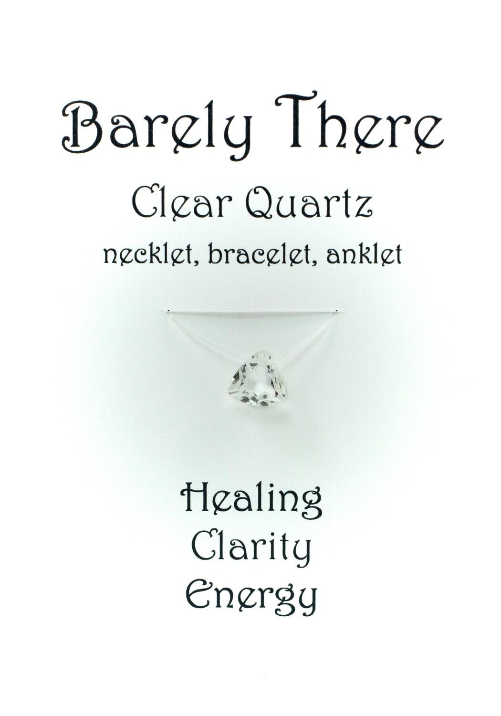 Clear Quartz - Invisible Necklet, Bracelet, Anklet - Trillion Facet