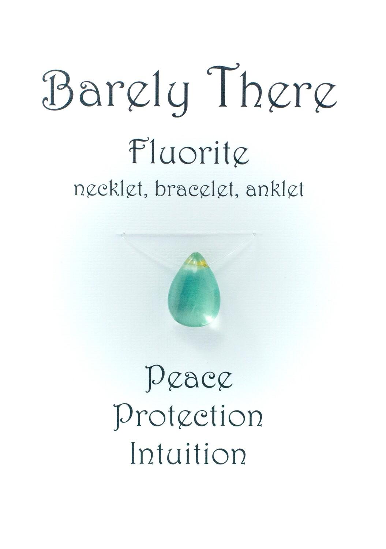 Fluorite - Invisible Necklet, Bracelet, Anklet