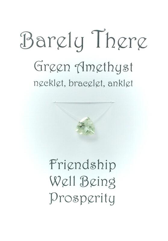 Green Amethyst - Invisible Necklet, Bracelet, Anklet - Trillion Facet