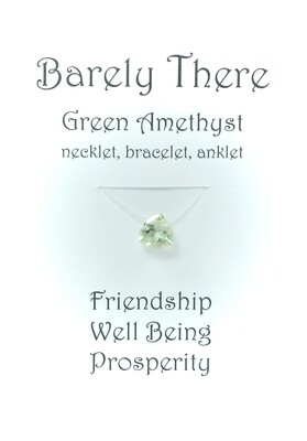 Green Amethyst - Invisible Necklet, Bracelet, Anklet - Trillion Facet