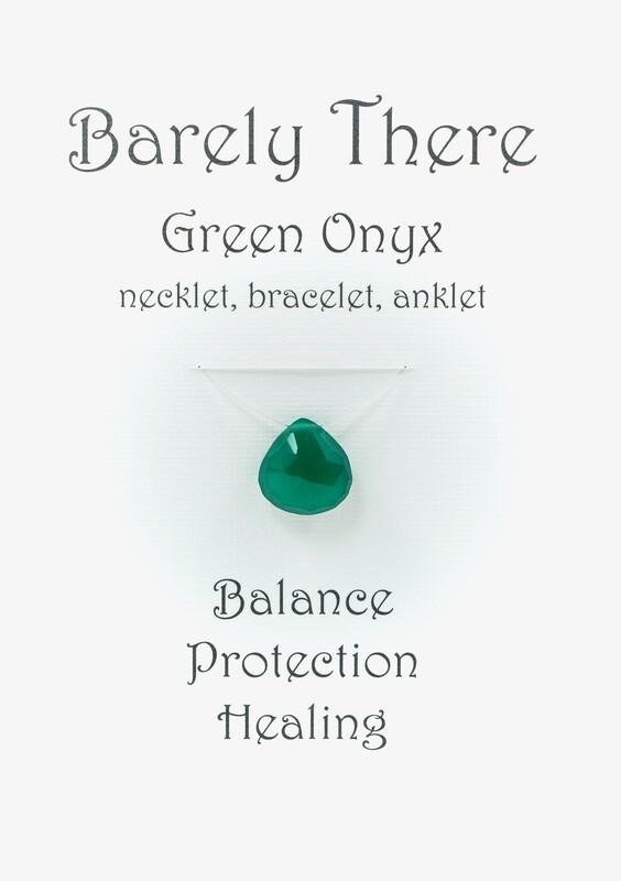 Green Onyx - Invisible Necklet, Bracelet, Anklet