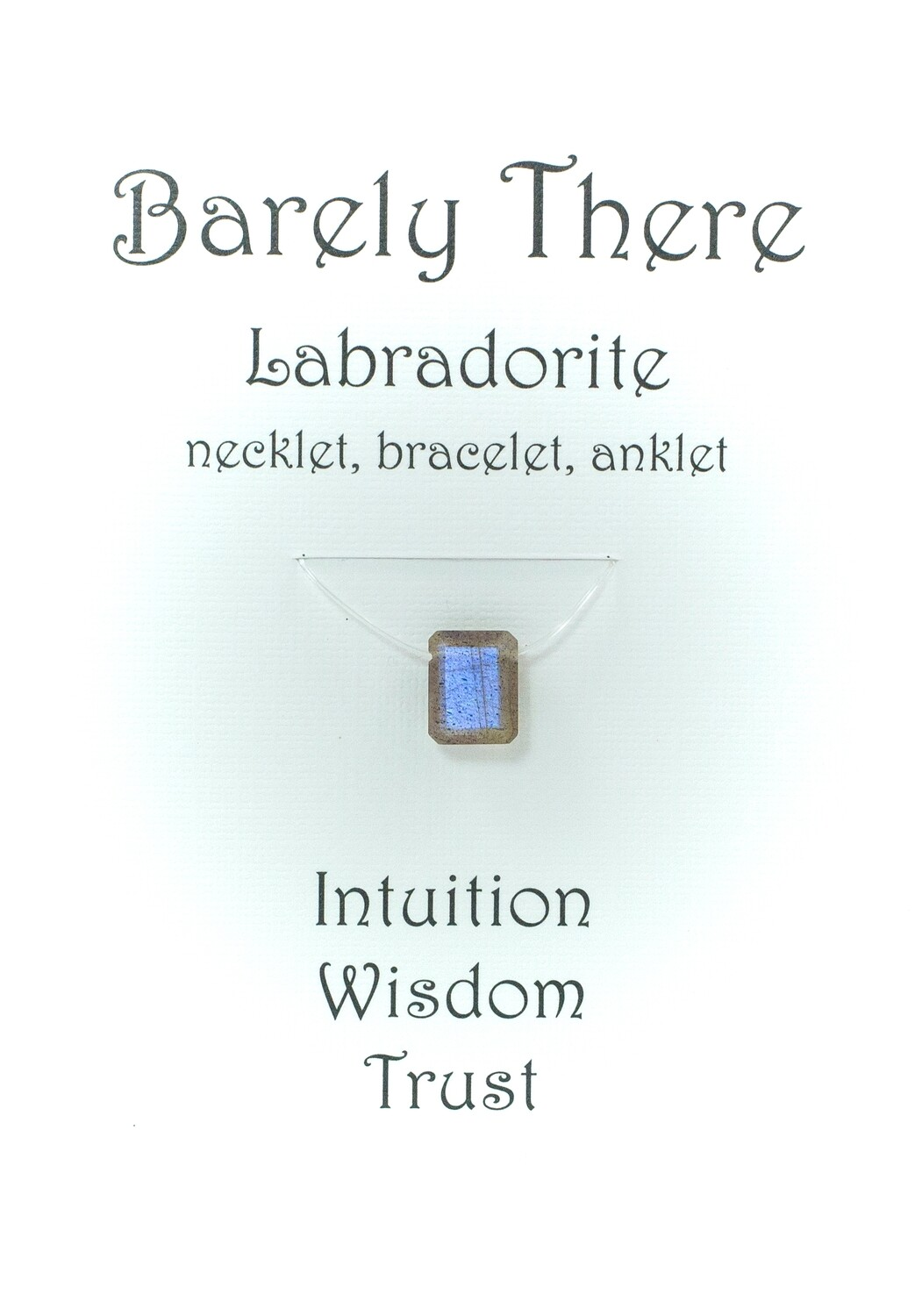 Labradorite - Invisible Necklet, Bracelet, Anklet - Emerald Facet