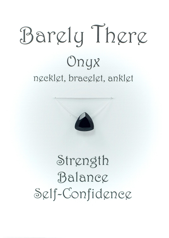 Black Onyx - Invisible Necklet, Bracelet, Anklet - Trillion Facet