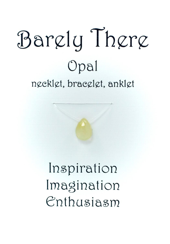 Ethiopian Opal - Invisible Necklet, Bracelet, Anklet
