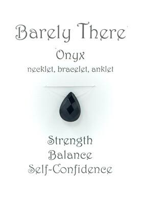 Black Onyx - Invisible Necklet, Bracelet, Anklet