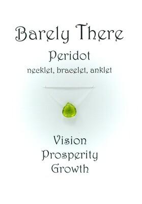 Peridot - Invisible Necklet, Bracelet, Anklet