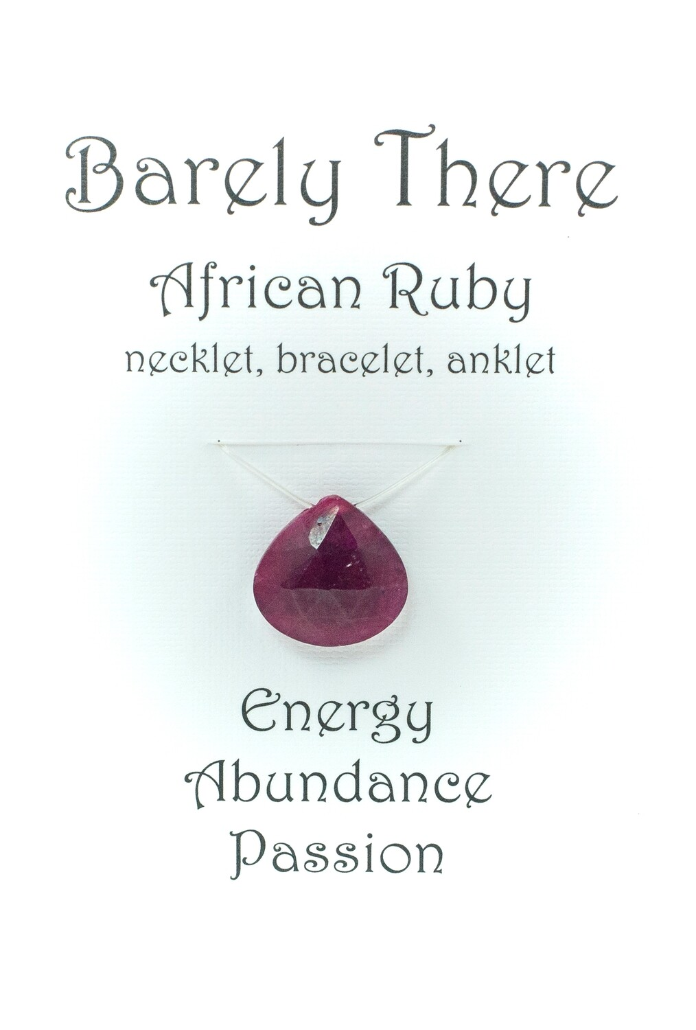 Ruby - Invisible Necklet, Bracelet, Anklet