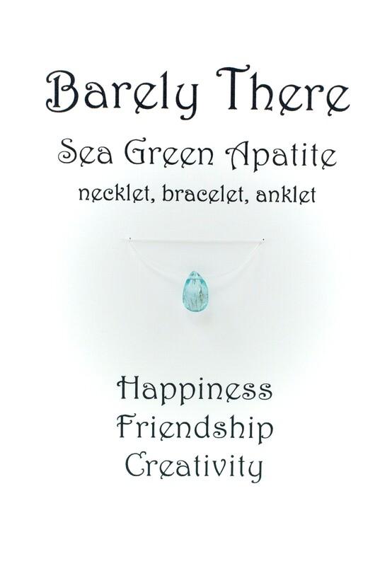 Sea Green Apatite - Invisible Necklet, Bracelet, Anklet