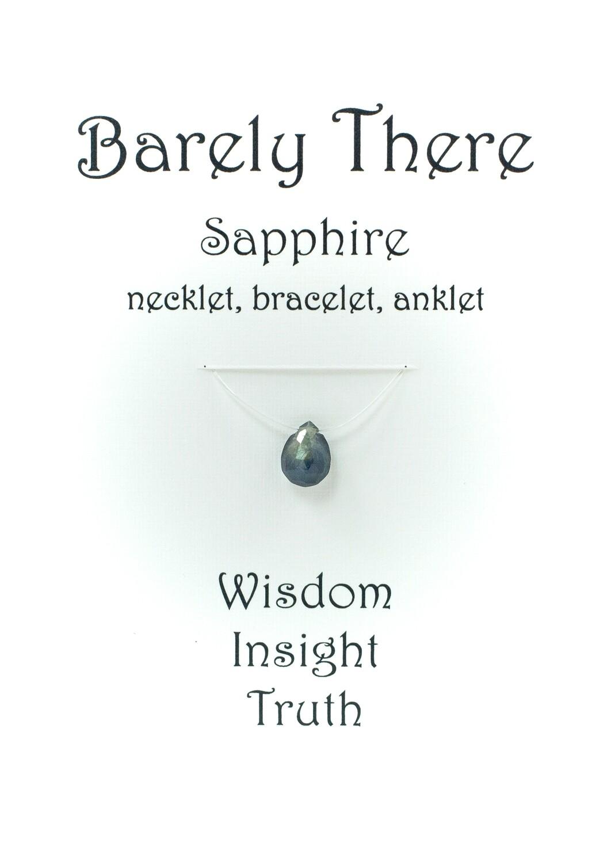 Sapphire - Invisible Necklet, Bracelet, Anklet