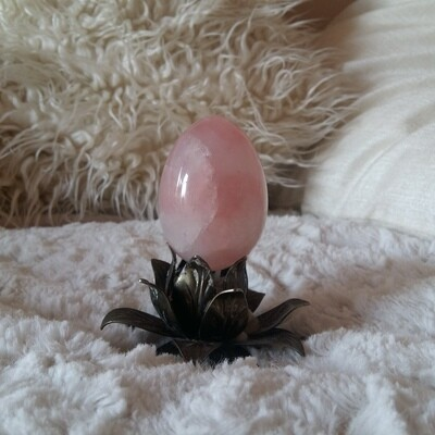 Rose Quartz Yoni Eggs: small (with options for medium, large, and drilled)