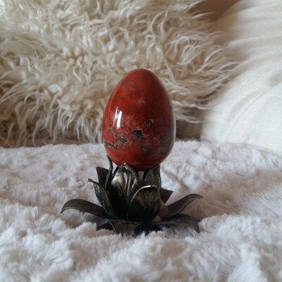 Red Jasper Yoni Eggs: small (with options for medium, large and drilled)
