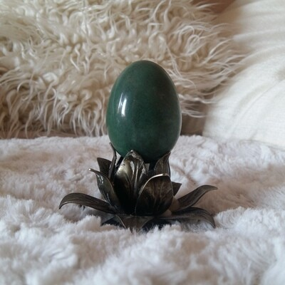 Green Aventurine Yoni Eggs: small (with options for medium, large and drilled)
