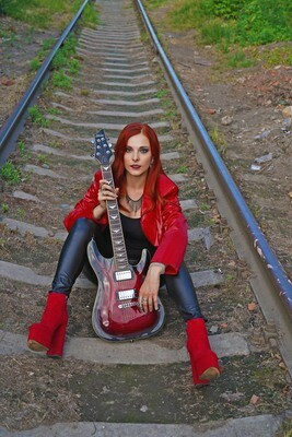 Poster Red Guitar A3