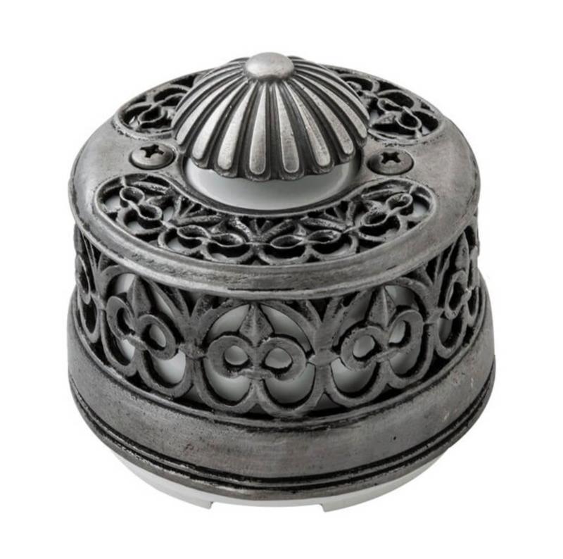 Light Dimmer in Silvered Bronze & Porcelain