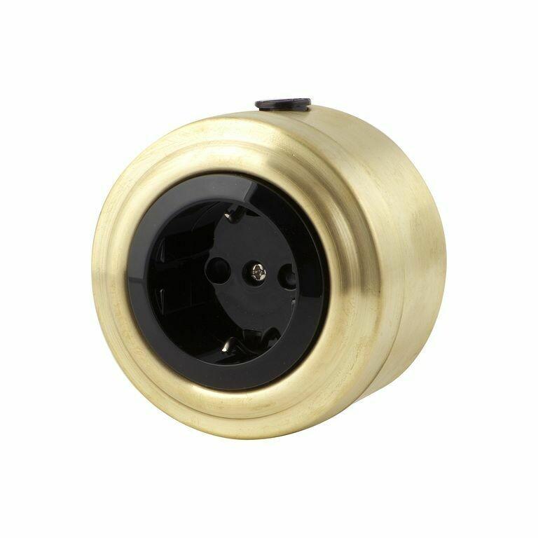 Golden bronze socket, black insert