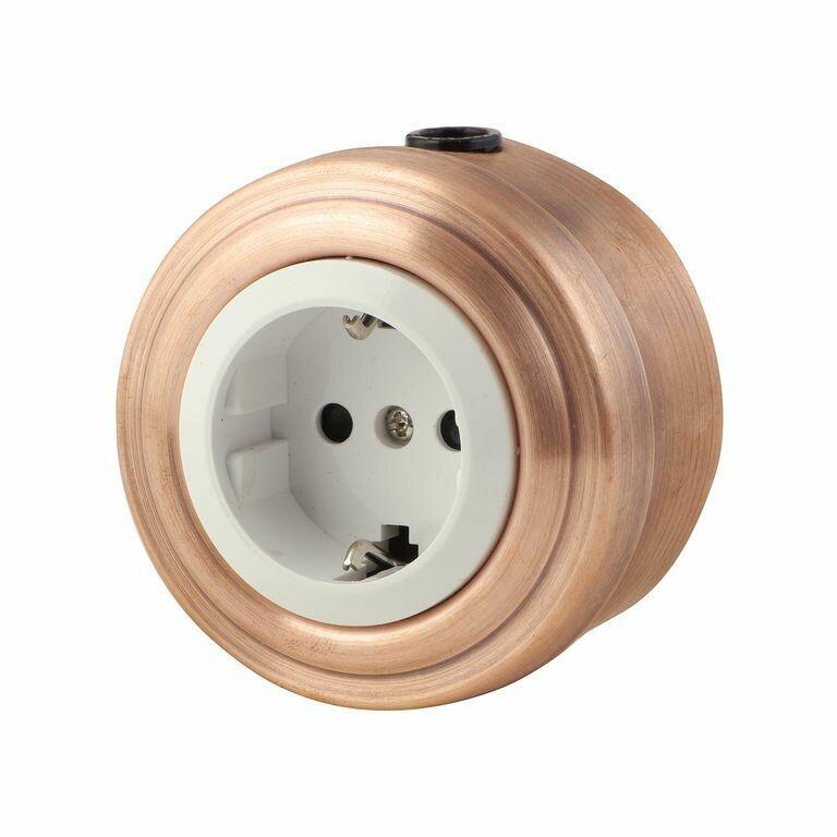 Copper socket, white insert