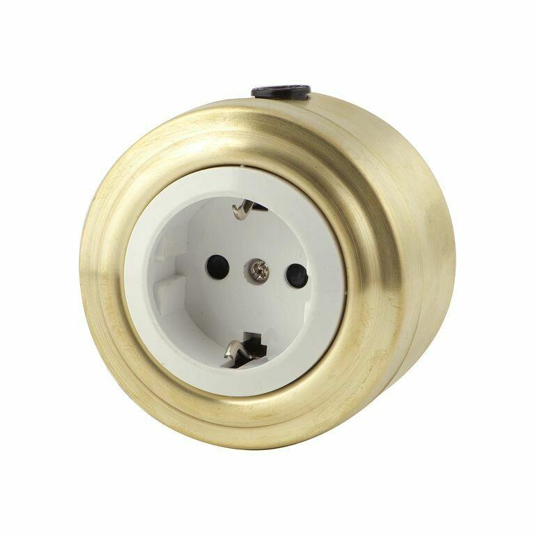 Golden bronze socket, white insert