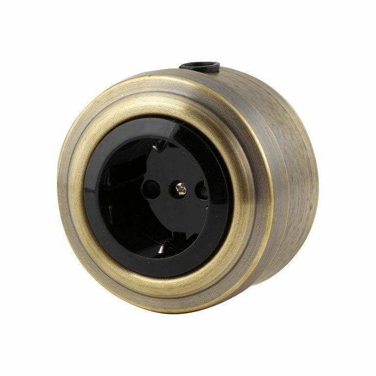 Bronze socket, black insert