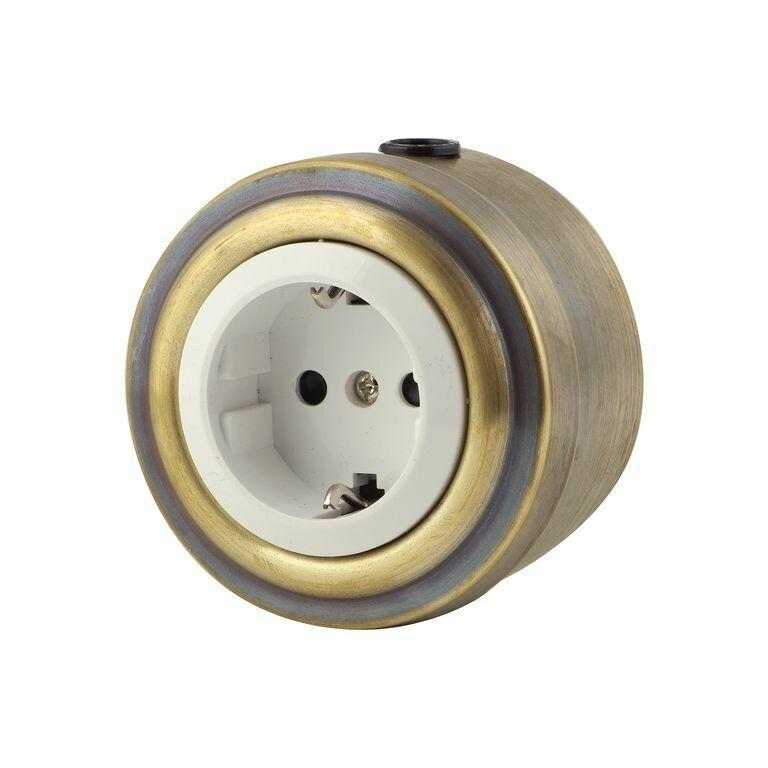 Bronze socket, white insert