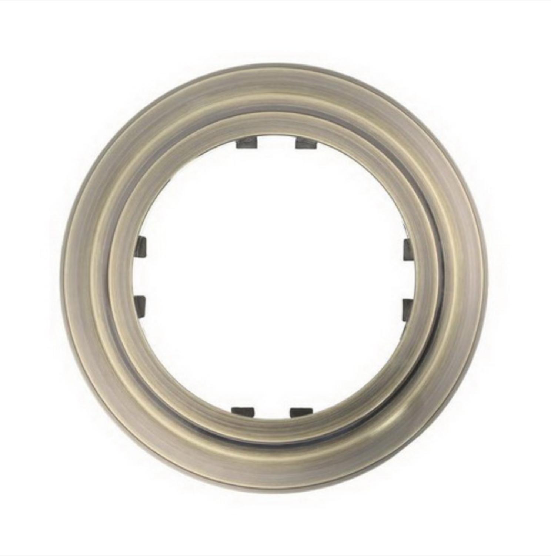 Round frame, bronze color