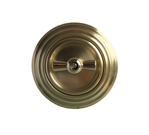 Golden brass rotary switch
