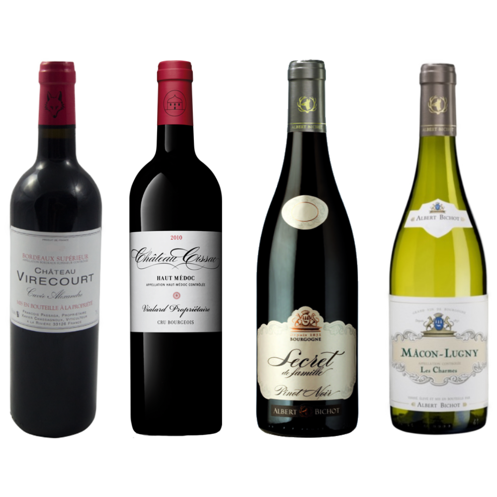 Pack de 3 Botellas vinos franceses