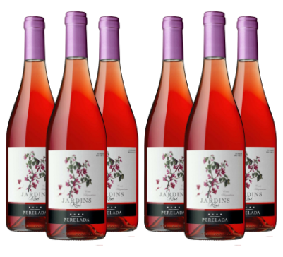 Caja de 6 Botellas de JARDINS ROSE