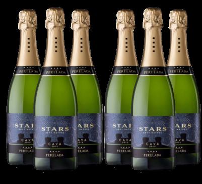Caja de 6 Botellas de CAVA STARS BRUT NATURE