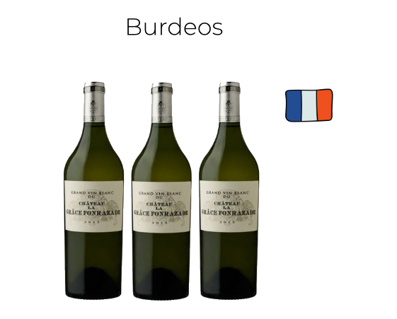 Caja 3 Botellas Château La Grâce Fonrazade Blanc