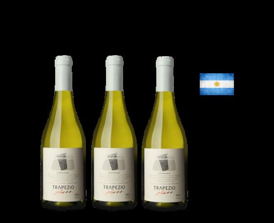 Caja 3 Botellas de Trapezio Plus Chardonnay