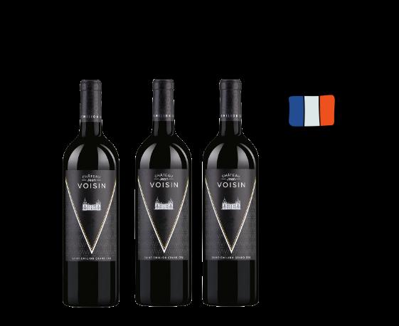 Caja 3 Botellas de Château Jean Voisin