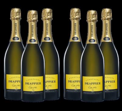 Caja de 6 botellas Champagne Carte d`Or Drappier
