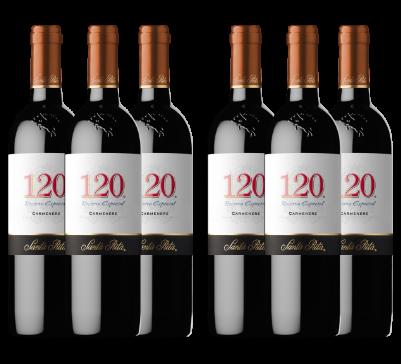 Caja de 6 botellas 120 Carmenere 2018